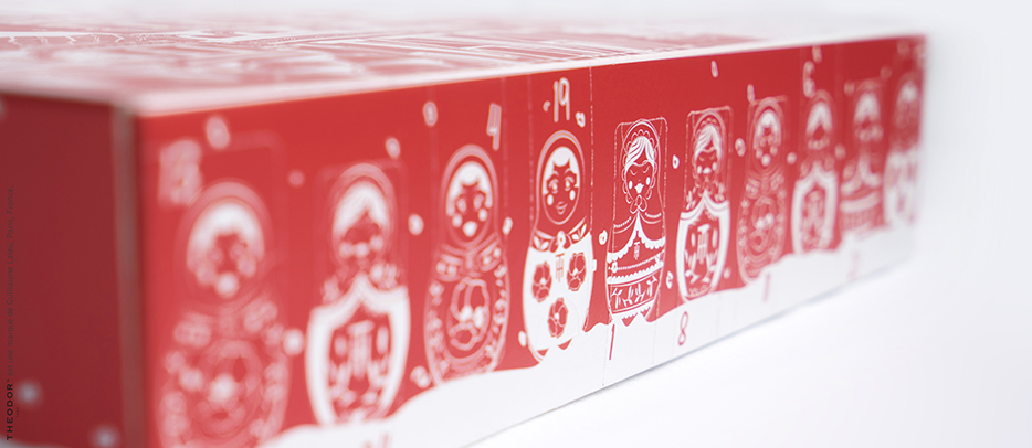 Tea advent calendar, boxes to open on its side - THEODOR