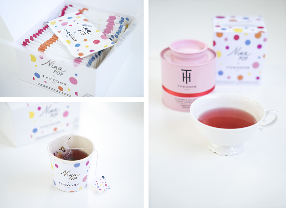 The 'Nina Pop' infusion in tin and precious teabags